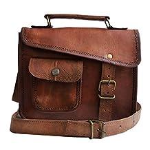 Jaald- Stylish Men's Genuine Leather Brown Shoulder Messenger Passport Bag Murse medium