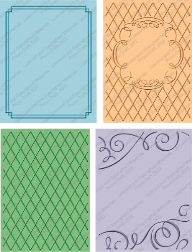 Cuttlebug Wedding Suit Embossing Borders - 4 Pack 1 pcs sku# 1077366MA