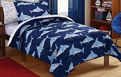 Mainstays Kids Sharks Coordinated Bed In A Bag Plete Bedding Set