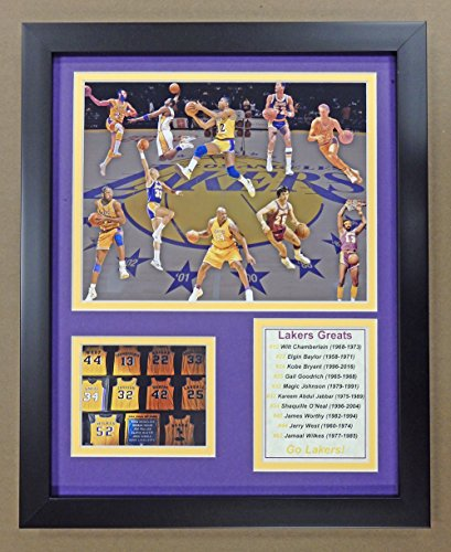 "Legends Never Die NBA Minneapolis/Los Angeles Lakers All-Time Greats Framed Photo Collage, 12"" x 15"""