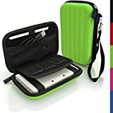 iGadgitz Green EVA Hard Travel Carry Case Cover for New Nintendo 3DS 2015 with Clip On Carry Strap