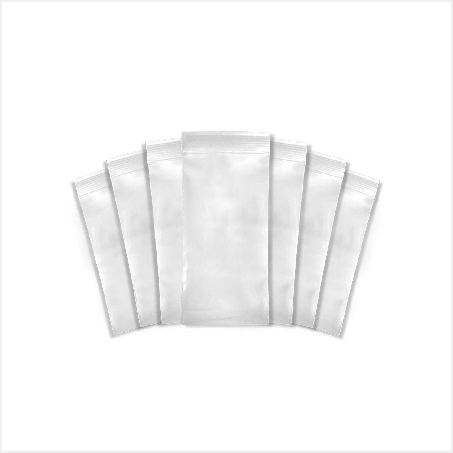 SNL Quality Zipper Lock Reclosable Clear Disposable Plastic Bags, Heavy Duty   3