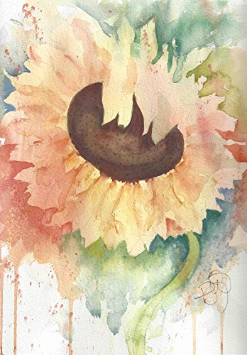 - Sunflower Blank Note Cards: 6 Blank Artistic Summer Floral All Occasion Watercolor Cards, With Envelopes - Tuscan Sunflower
