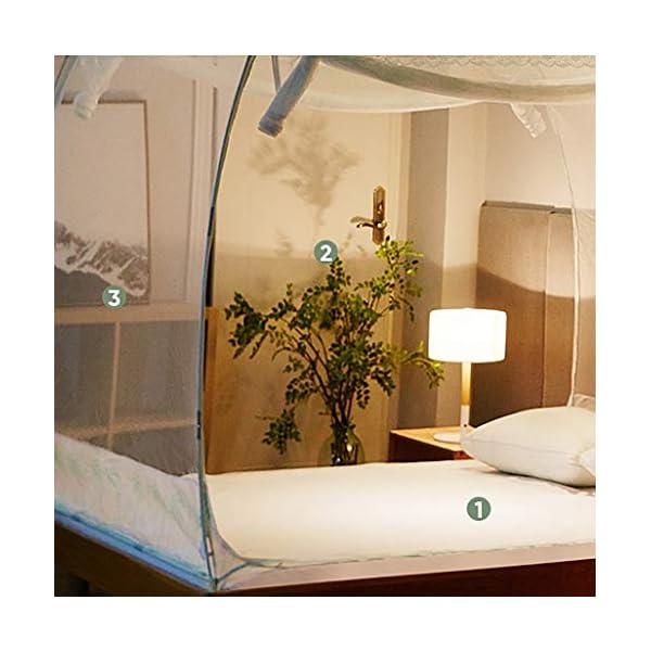 Yurt casa Doppio Semplice 1,5 m tenda zanzariera, facile da installare 1,8 m letto con staffa Dormitorio zanzariera… 4 spesavip