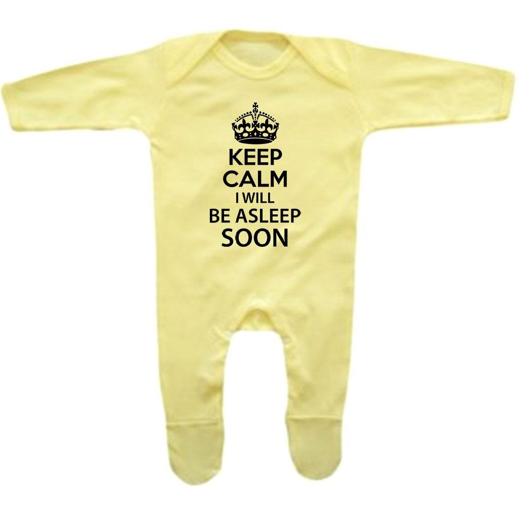 Bang Tidy Clothing Baby Girls Keep Calm I Will Be Asleep Soon Rompersuit
