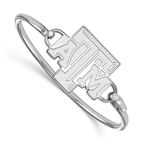 NCAA Sterling Silver Texas A&M University Bangle, 8 inch by LogoArt