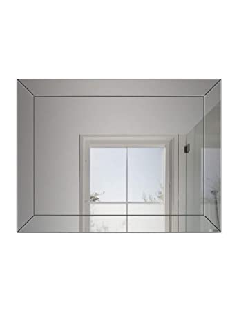 1a231109e4ce Amazon.com : Simple Frameless Wall Bathroom Mirror Wall Hanging ...