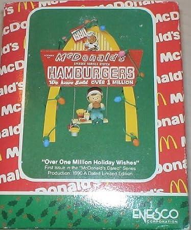 Amazon.com: Vintage Mcdonalds Christmas Ornament 'Over One Million ...