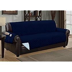 Sofa Guard Deluxe Reversible Sofa Furniture Protector, Blue / Light Blue