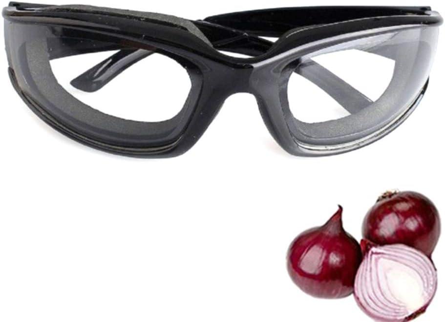 RainbowBeauty 1PC Cebolla de protección Gafas de protección Creative Kitchen Vidrios con Efecto antideslumbrante Gafas Especiales para Herramientas de Corte cebollas Inicio de Cocina Negro