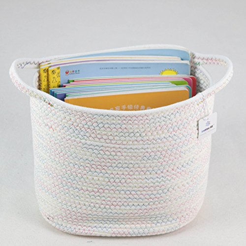 ICEBLUE Oval Protectional Nursery Storage Children's Book Storage Toy Storage Soft Storage Basket Gentle Bucket
