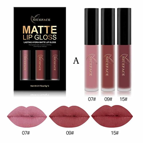 Black Friday Sales Promotions,Putars 3Pcs Sexy Women Matte Waterproof Long Lasting Liquid Lipstick Lip Gloss Beauty Care - Sexy Friday