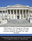 Crs Report for Congress, Robert L. Bamberger, 1293247197