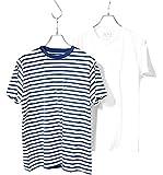 フルーツオブザルーム (FRUIT OF THE LOOM) 2枚セット Tシャツ 無地 ボーダー クルーネック or Vネック