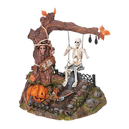 Dept 56 Village Animated Swinging Skeleton -