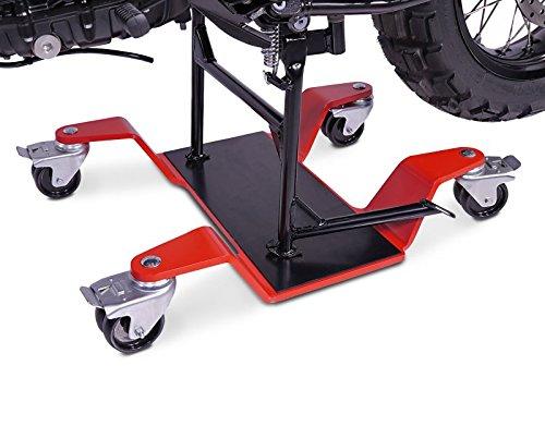 Peana aparcamiento para BMW R 1200 GS Adventure por Caballete Central ConStands Mover II, max. 400 kg, rojo: Amazon.es: Coche y moto
