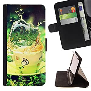 DEVIL CASE - FOR LG G3 - Nature Beautiful Forrest Green 21 - Style PU Leather Case Wallet Flip Stand Flap Closure Cover