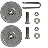 Ideal Security SK7117 Garage Door Pulleys with Fork and Bolts (2 Pack), 3 Inch, 2 Piece