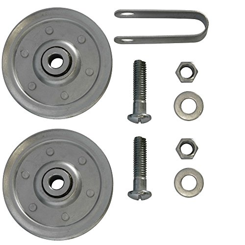 - Ideal Security SK7117 Garage Door Pulleys with Fork and Bolts, 3 inch, 2 Piece