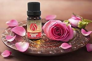 Aceite esencial de rosa, con certificado ecológico, 100 % puro ...