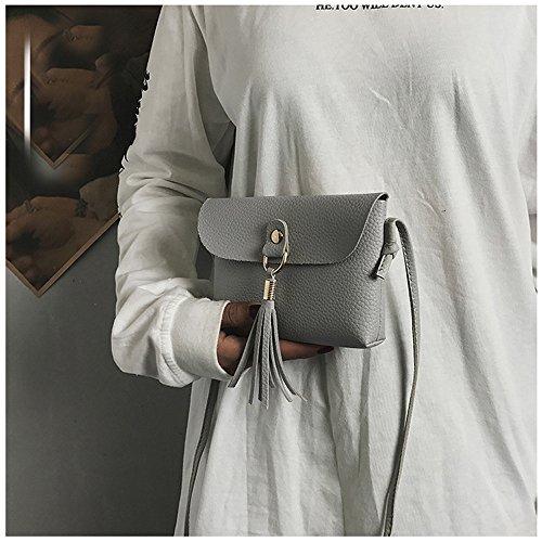 Kingwo à Sac Main Gris sac Sac mode Mini à de Franges Bandoulière vintage à TnrnRwxW