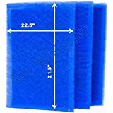 Dynamic Air Cleaner Replacement Filter Pads 24x24 Refills (3 Pack)
