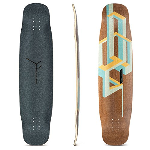 Loaded Boards Basalt Tesseract Bamboo Longboard Skateboard Deck (Mango) - Kicktail Longboard Skateboard