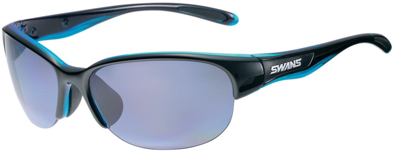 SWANS(スワンズ) 日本製 スポーツ サングラス ルナ 女性向け LUNA (ゴルフ テニス ランニング アウトドア 用) B00ULAGKB2 ブラック×クリアブルー ブラック×クリアブルー