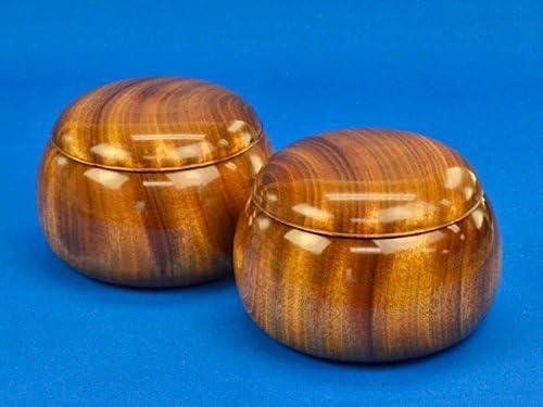 木製碁笥 楠(上) 超特大 ※将碁屋ミニ椿油付き
