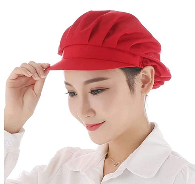Nanxson Unisex Mob Caps Industrial Workshop Protective Working Elastic  Kitchen Hats with Visor Pack of 3 CF9035 (L bbd163b49b04