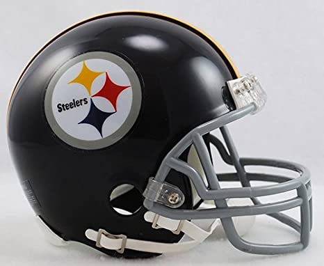 e20c0be9aca Amazon.com  Pittsburgh Steelers 1963-1976 Throwback Riddell Mini Football  Helmet - New in Riddell Box  Sports Collectibles