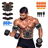 UYTHNG Abs Stimulator Abdominal Trainer Ultimate Abs Stimulator Ab Stimulator Men Women Work Out Ads Power Abs Training Gear Workout Equipment Portable Stimulator Abs Belt...