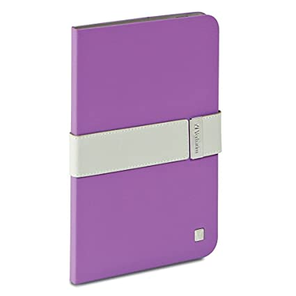 Verbatim Folio Signature Case for iPad Mini (1,2,3), Purple/Grey 98420