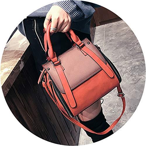 Vintage Handbags For Women Female Leather Handbag Small Bags Lady Shoulder Bags Casual,Red,26Cm X 23Cm X 14Cm