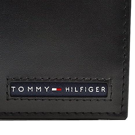 c2d9dd24f2b1 レザー /( トミーヒルフィガー /) ブラック TOMMY HILFIGER /[並行輸入品/] 31TL25X020 牛革 小銭入れ付き メンズ 黒  コンパクト財布 二つ折財布