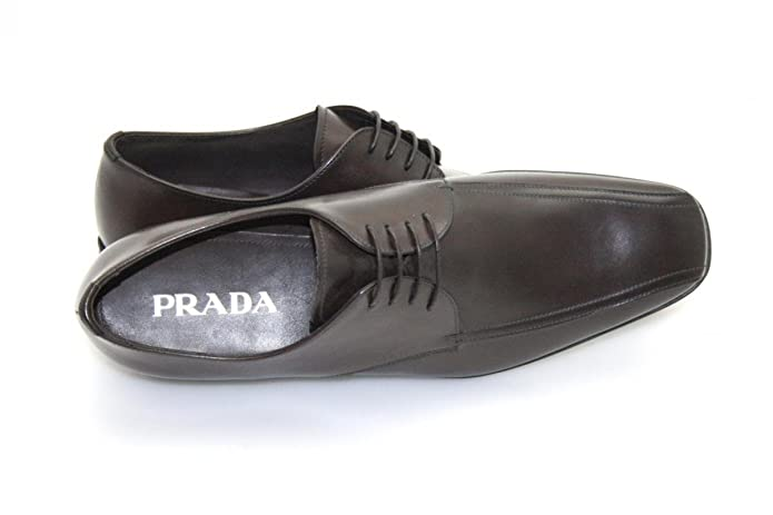 Prada - Mocasines de Piel para hombre Marrón Burned Brown: Amazon.es: Zapatos y complementos
