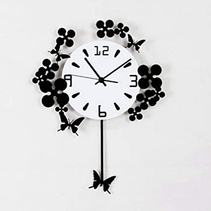 YHEGV Wall Clocks Elegant Sala de Estar Reloj De pared Simple CAIL Mudoón Moderno Reloj fr