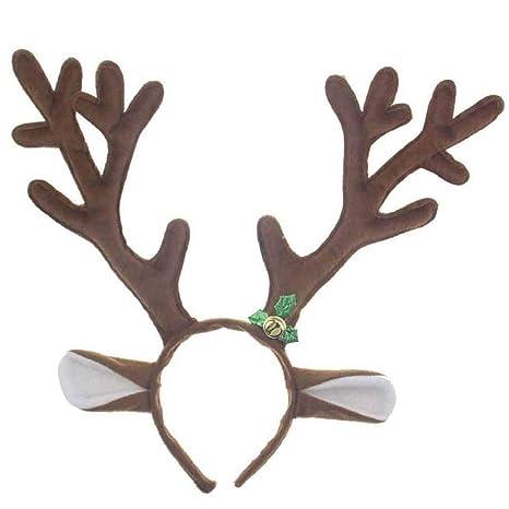 Elch Geweih Stirnband Kopfschmuck Weihnachten Kostüm Weihnachtskostüm für