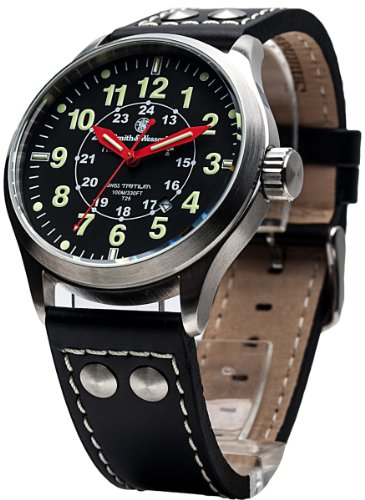 smith-wesson-campco-mumbai-lamplighter-swiss-tritium-10atm-watch-with-date-display-and-genuine-leath