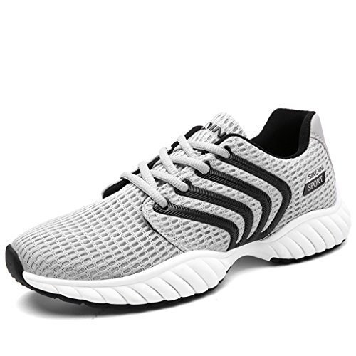Running Sport Shoes for Men Breathable Mesh Casual Outdoor Sports Shoes Grey