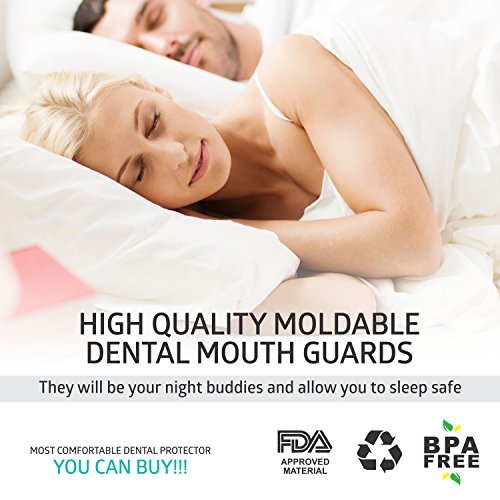 DentalCare Labs Teeth Grinding Custom Fit BPA-Free Mouldable Dental Night Guards in 2 Sizes (Pack of 4) by DentalCare Labs (Image #2)