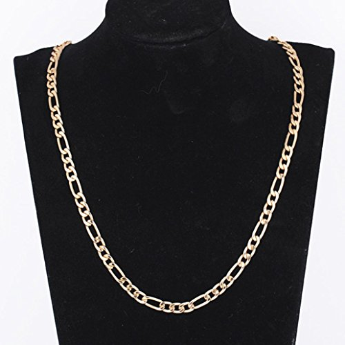 Men Women Fashion Luxury Filled Curb Cuban Link Gold Necklace Jewelry Chain (Starfish Link Necklace)