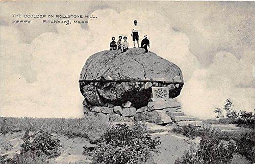 Rollstone Hill (The Boulder on Rollstone Hill Fitchburg Massachusetts Postcard)