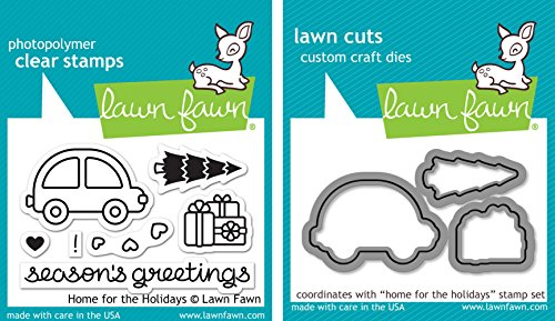 Lawn Fawn Home for the Holidays - Stamps and Dies - Two Item Bundle