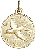 Helen Ficalora Swallow Coin Charm Yellow Gold