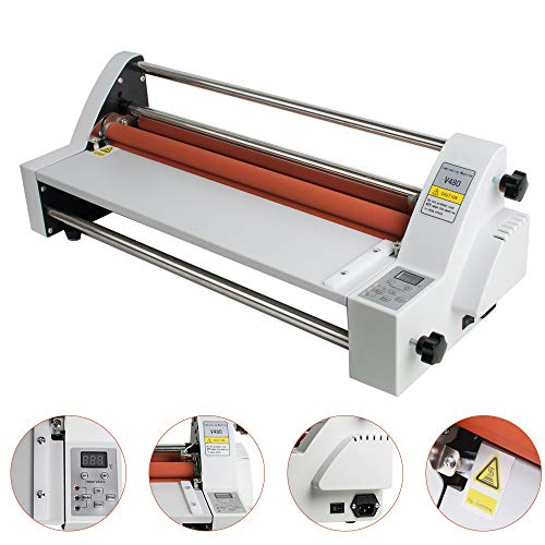 (Lolicute 17'' Hot Cold Roll Laminator Single&Dual Sided Thermal Laminating Machine for School Office Commercial 110V)