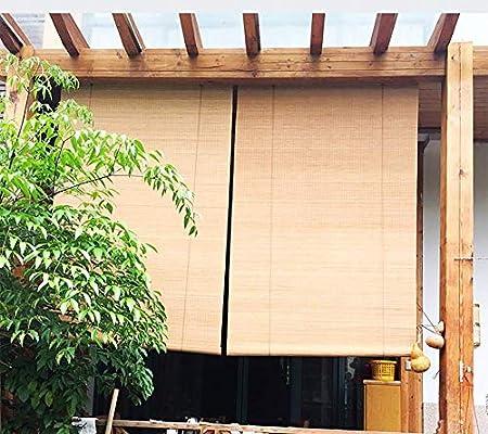 FF Estores enrollables Persianas Enrollables Exteriores para Garajes De Porche De Pérgola Al Aire Libre, Sombrillas De Madera Opacas con Gancho, 80/100/120/130/140 Cm De Ancho (Size : 80×100cm): Amazon.es: Hogar