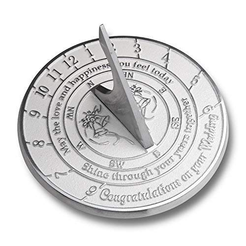 Unique Wedding Gift Idea for A Special Couple. A Years Together Sundial Makes A Great Marriage Present for The Bride and Grooms Garden Or Home Décor Ornament. by The Metal Foundry UK (Renewed)