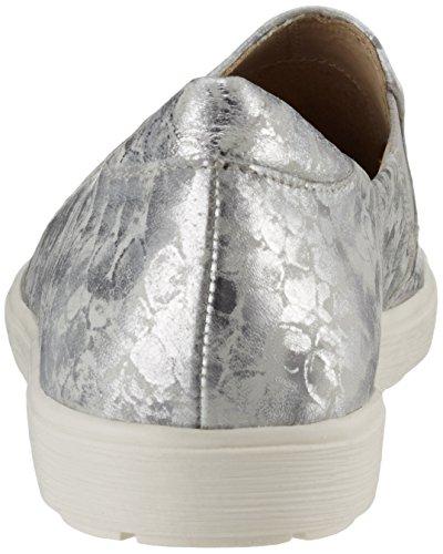 Mocasines Caprice 24662 Mujer Metal Silver Plateado OYY1BW7R