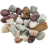 FloraCraft Rocks with 5-Pound Square Reuseable Jar, Multiple Sizes, Country Mix